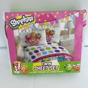 Shopkins Twin Sheet 3 Piece Set